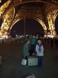 Underneath the Eiffel on a Glorious Tuesday Evening