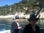 Maria -- Judy on Boat in Port Miou