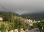 walk home in the clouds covering Cassis